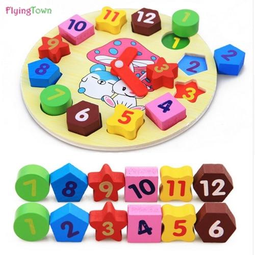 FlyingTown Juguetes de Matemáticas de Madera Rompecabezas colorido - Juegos y rompecabezas