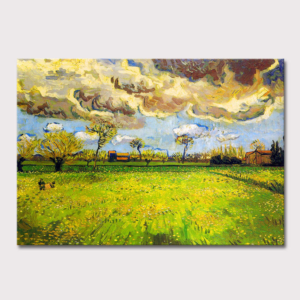 The Storm The Sky Of Famous Vincent Van Gogh 100% Hand Made Reproduction Oil Painting On Canvas Wall Art Picture For Living Room