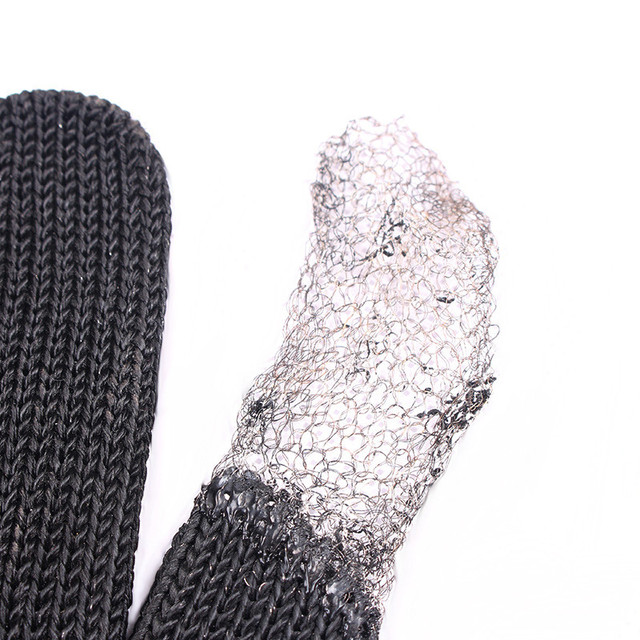 black steel wire metal mesh gloves Safety Anti-cutting wear-resistant