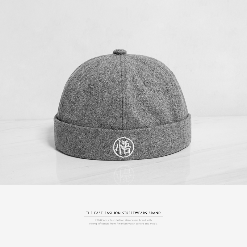 72e7ffdec06 INFLATION Fashion Design Chinese Style Round Hat Unisex Snapback Couple Caps  Flanging Solid Color Fashion Men s Hats 089CI2017-in Fedoras from Apparel  ...