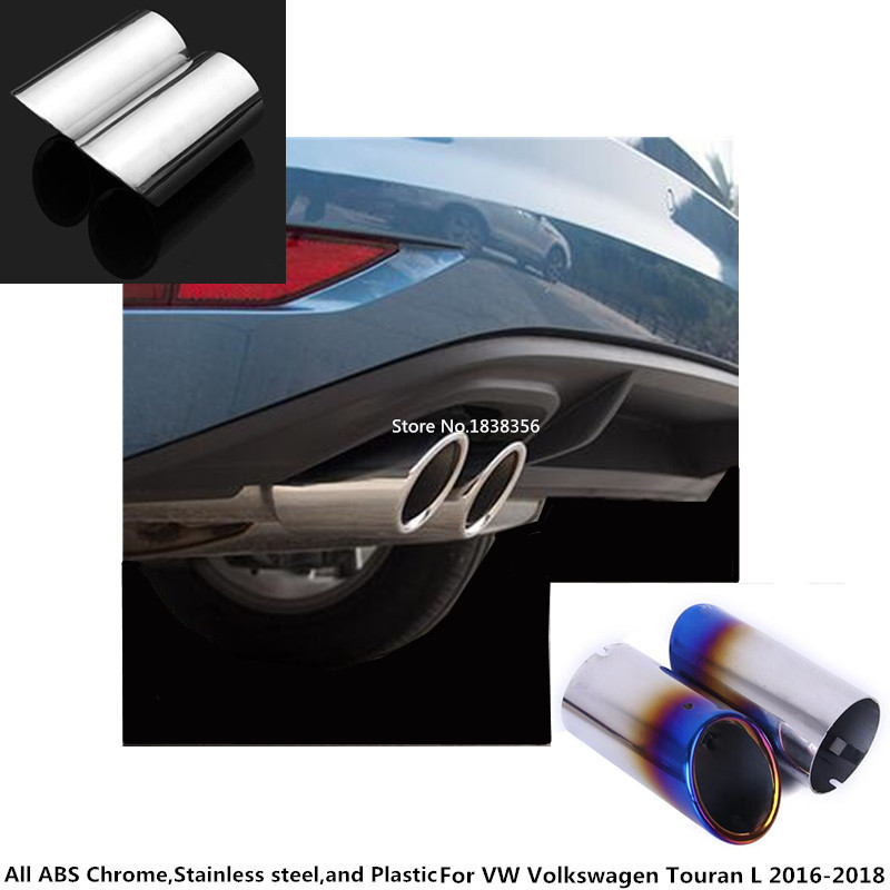 2PCS Stainless Steel Exhaust Muffler Tail Frame Trim For Cadillac XTS 2015-2017