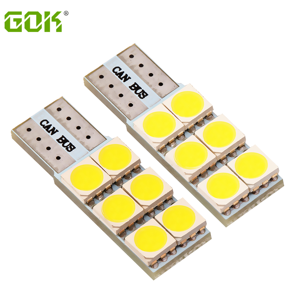 Wholesale 10pcs/Lot Auto led T10 6smd 5050 LED w5w LED T10 canbus car Light  led Bulb Indicator Light Parking Lamp freeshipping wholesale 10pcs lot canbus t10 5smd 5050 led canbus light w5w led canbus 194 t10 5led smd error free white light car styling