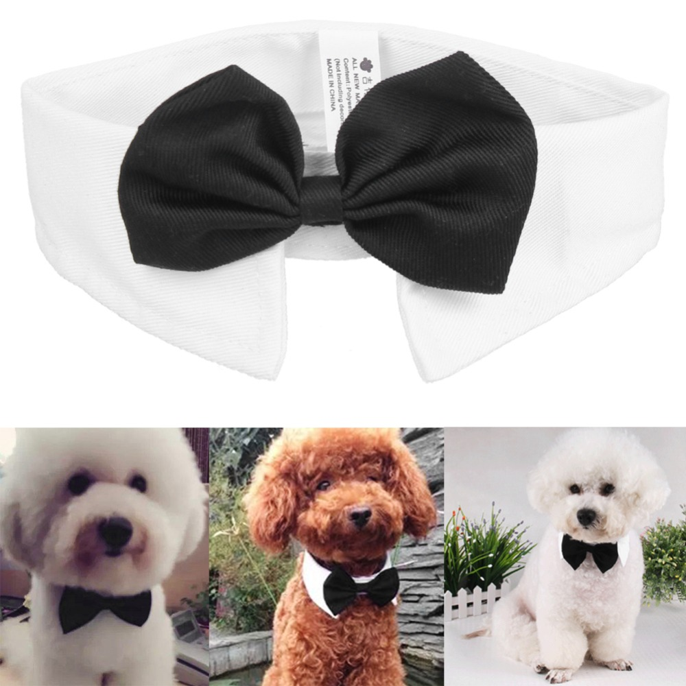 Dog Cat Pet Tie Puppy Toy Bow Tie Necktie Clothes British Black Kitten Tie Handsome Dog Puppy Necktie For Pet Festival Decor