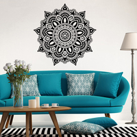 promotion arriving creative art vinyl mandala wall sticker indian yoga home decal removable murals room decoration