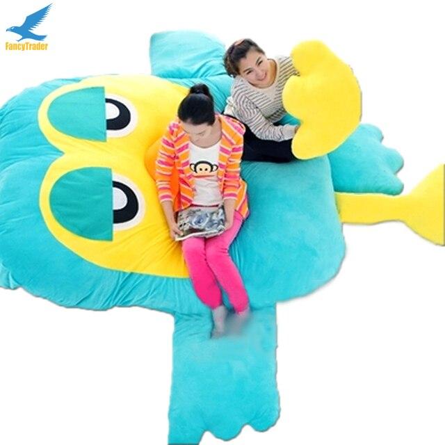 Fancytrader Гигантские Плюшевые Мягкие Чучела Совы Beanba Диван-Кровать Спальная Кровать Матрас 2 Цветов, хороший Подарок FT90901