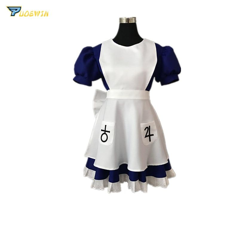 Alice Madness Returns Cosplay Costume Maid Uniform Fancy Dress