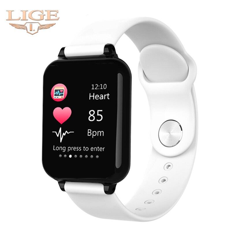 2019 Novas Mulheres Pulseira de relógio Inteligente À Prova D' Água Esporte Para Iphone telefone Inteligente Funções de Pressão Arterial Monitor de Freqüência Cardíaca Para O miúdo