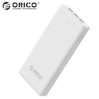ORICO 20000 mAh 3 USB Banco 5 V/2A * 2 + 5V1A * 1 Batería Externa móvil banco de Reserva con la linterna blanca Universal