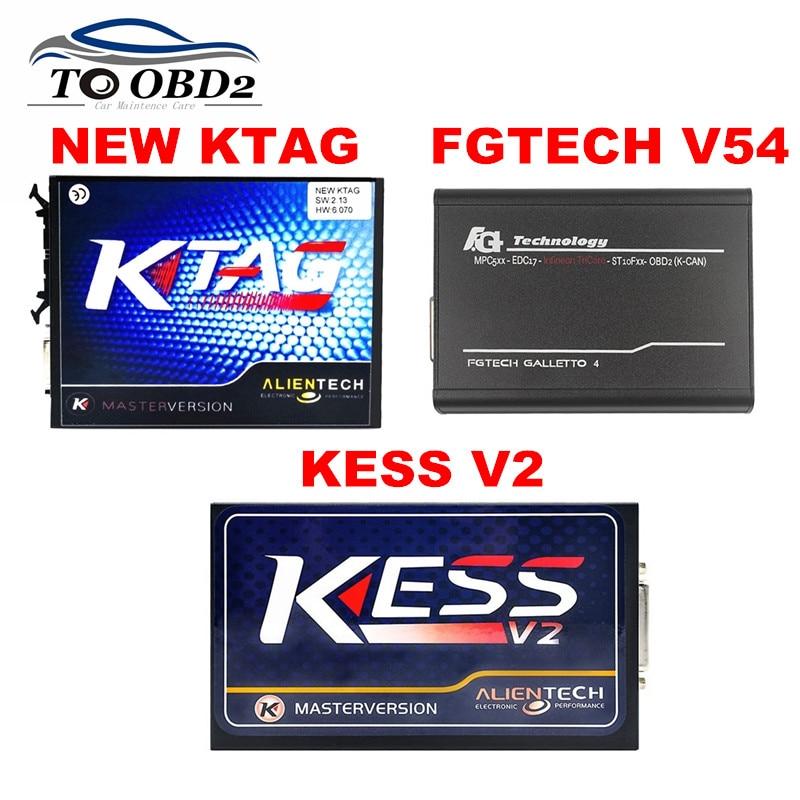 Цена за V54 FGTECH EOBD2 ЭКЮ Программист и SW2.30 HW4.036 и KTAG KESS V2 SW2.13 HW6.070 Без Лексем Ограничено Многоязычная OBD2 K-CAN Интерфейс