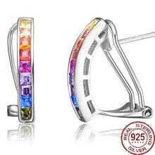 Retro Colorful Opal Gem 100% Real 925 de Plata Del Oído Pendiente del perno prisionero Del Estilo Indio Joyería de Marca de Lujo de La Novia Regalos Mujeres diseño