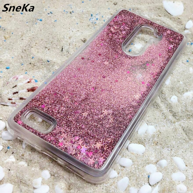 Soft Case For ZTE Zmax Pro Cover Glitter Stars Dynamic Liquid Quicksand Silicon TPU Phone Back Cover For ZTE Z981 Zmax Pro 6.0