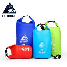 Hewolf 5L 15L 20L 30L Waterproof Outdoor Bags Storage Dry Bag Ultralight Swimming Bag Dry Beach Drifting Backpack Rafting Bags цена и фото