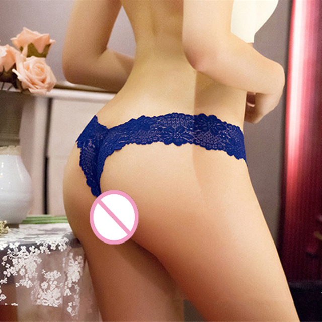 S-XL Newest Women G String Sexy Underwear Lace Briefs Panties Transparent Super Thin Hollow Thongs Plus Size 3