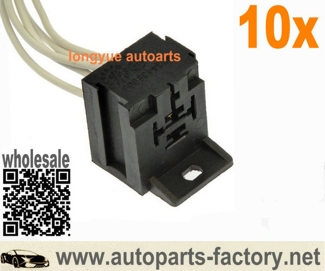 US $18 85 |longyue 10pcs 5 way A/C HVAC Relay Repair Connector Pigtail  Heater Switch Socket 8