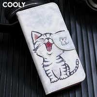 COOLY Leder Brieftasche Flip Fall Für Sony Xperia XA1 XA2 XA3 XA L1 L2 XZ1 XZ2 Kompakte 10 E5 Zurück abdeckung Katze Blatt Marmor Telefon Coque