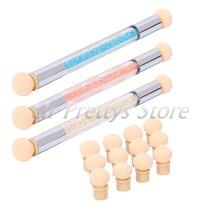 Nail Powder Sponge Brush Tool+ Extra 4 Sponge Heads Nail Gradient Shading Pen