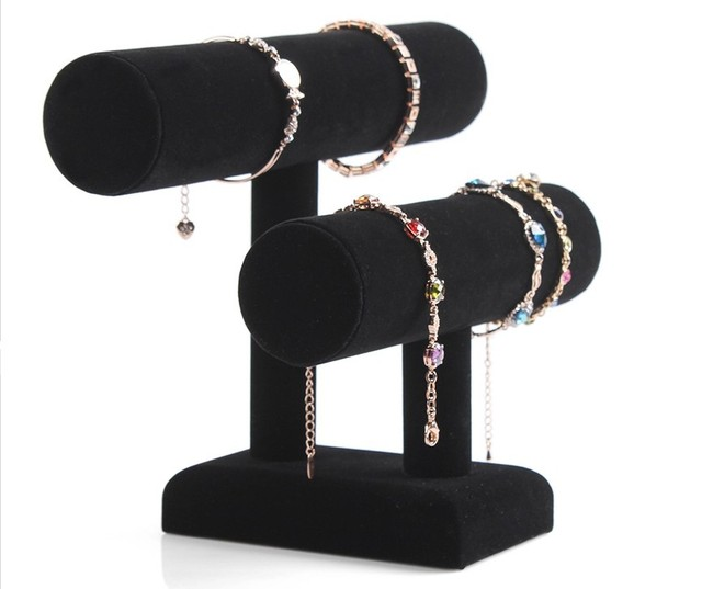 Removable double layer Bracelet display shelf hair bands show jewelry Watch shelves Jewelry display shelf bangle holder rack
