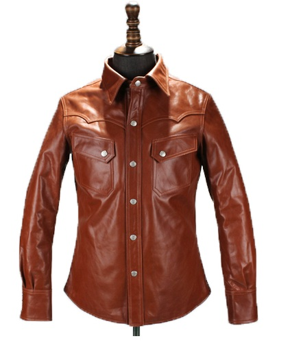 цены Free shipping.DHL Brand new brown cow leather shirt,man's 100% genuine leather Jackets,fashion men's slim japan style jacket