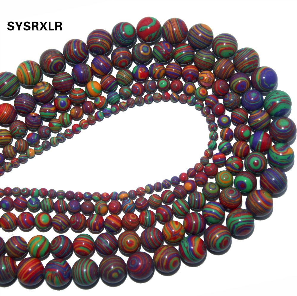 Free Transport Natural Stone Bead Selectable Size 6 8 10 12 Mm For Jewelry That They Do For The Do It Yourself Stone Bracelet Jewelry & Accessories