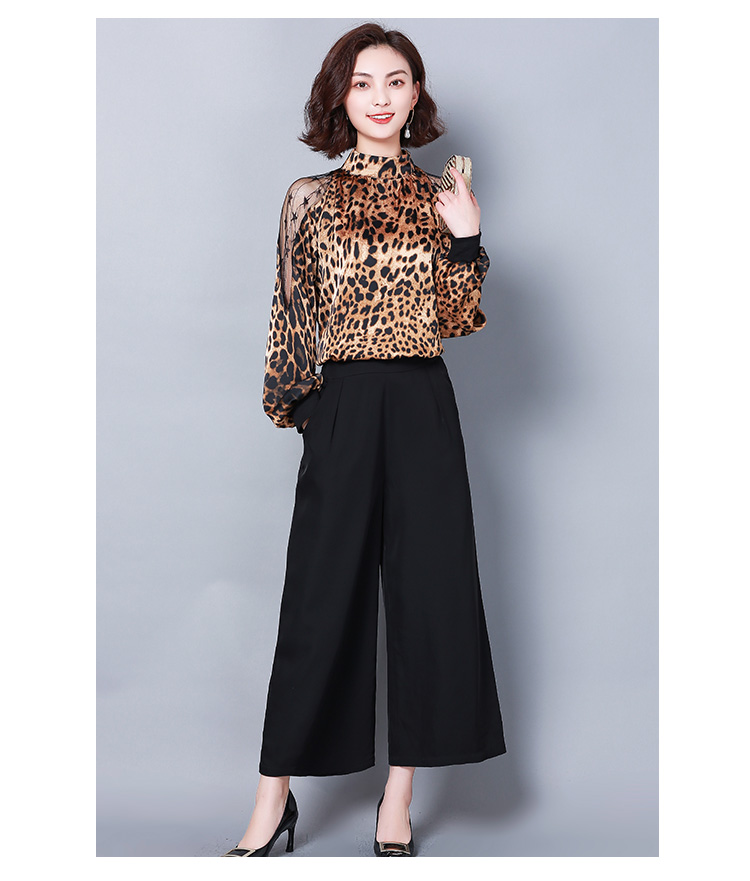 HTB19gNIbynrK1RjSsziq6xptpXa9 - Fashion womens tops and blouses sexy lace off shoulder top Leopard print chiffon blouse shirt long sleeve women shirts 2656 50