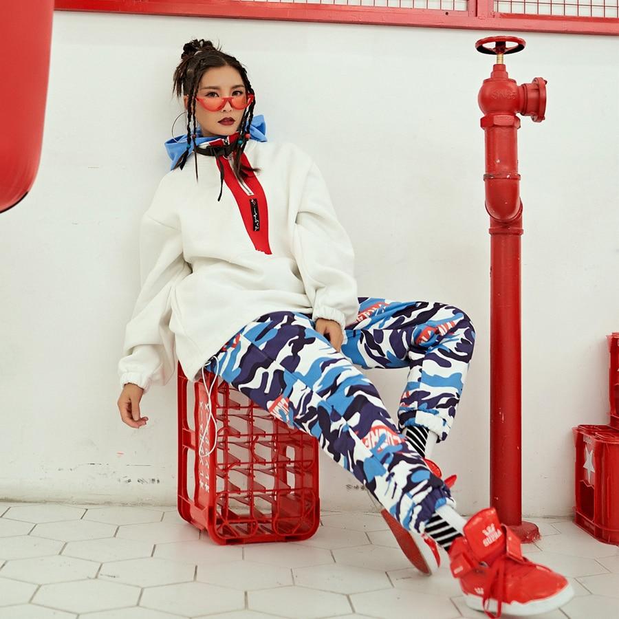 Donne Casual Femminili Pantaloni Invernali Unico Harajuku Delle Stampato Le Per Camouflage Sportwear Spessore Di 0wwtOFAxq