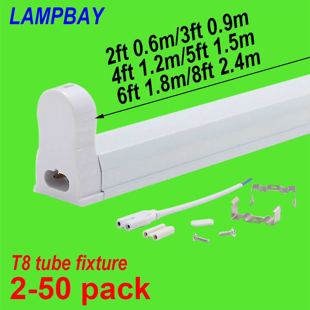 2-50pcs LED Tube Light Fixture 2ft(0.6m) 3ft(0.9m) 4ft(1.2m) 5ft(1.5m) 6ft(1.8m) Bar Lamp Fitting T8 Bulb Housing G13 Holder t8 g13 led tube light smd 2835 led lamp fluorescent lamp 10w 2ft 15w 3ft 85 265v led tubes warranty 2 years page 4