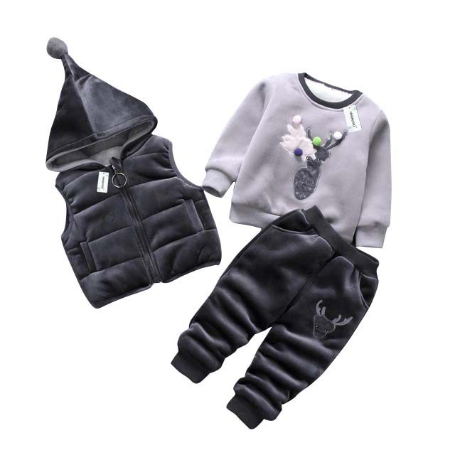 Bran 3Pcs/1 Lot Winter Baby Girls Boys Clothes Sets Children Down Cotton-padded Coat+shirt+Pants Kids Infant Warm Outdoot Suits 2017 winter baby girls boys clothes sets children down cotton padded coat vest pants kids infant warm outdoor suits