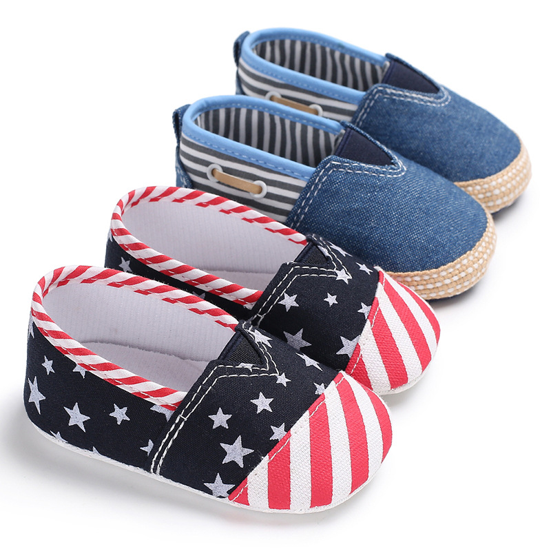Casual Baby Shoes First Walkers summer Toddler Newborn Classic Stripes stars Baby Girls boys Sneakers soft soled Shoes