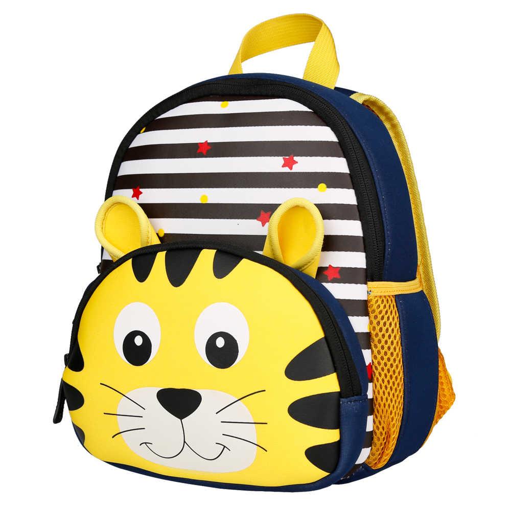 930ef5e4c8f1 ... 3D мультфильм Детские Рюкзаки Сумка для школы или детского сада  животные неопрен Детский рюкзак детские школьные ...