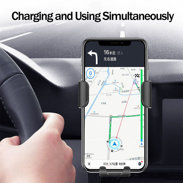 10W Wireless Charger Fast Car Charger Air Vent Mount Phone Holder For iPhone XS Max For Samsung S10 S9 For Huawei QI Chargers 4