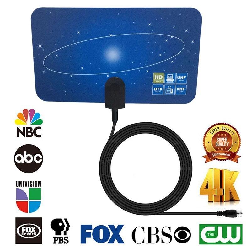 SOONHUA Neueste 4 Karat HD Digitale Innen-fernsehantenne Flache Design 40-50 miles High Gain HD TV Box DTV STB Fernsehen Satellitenempfänger
