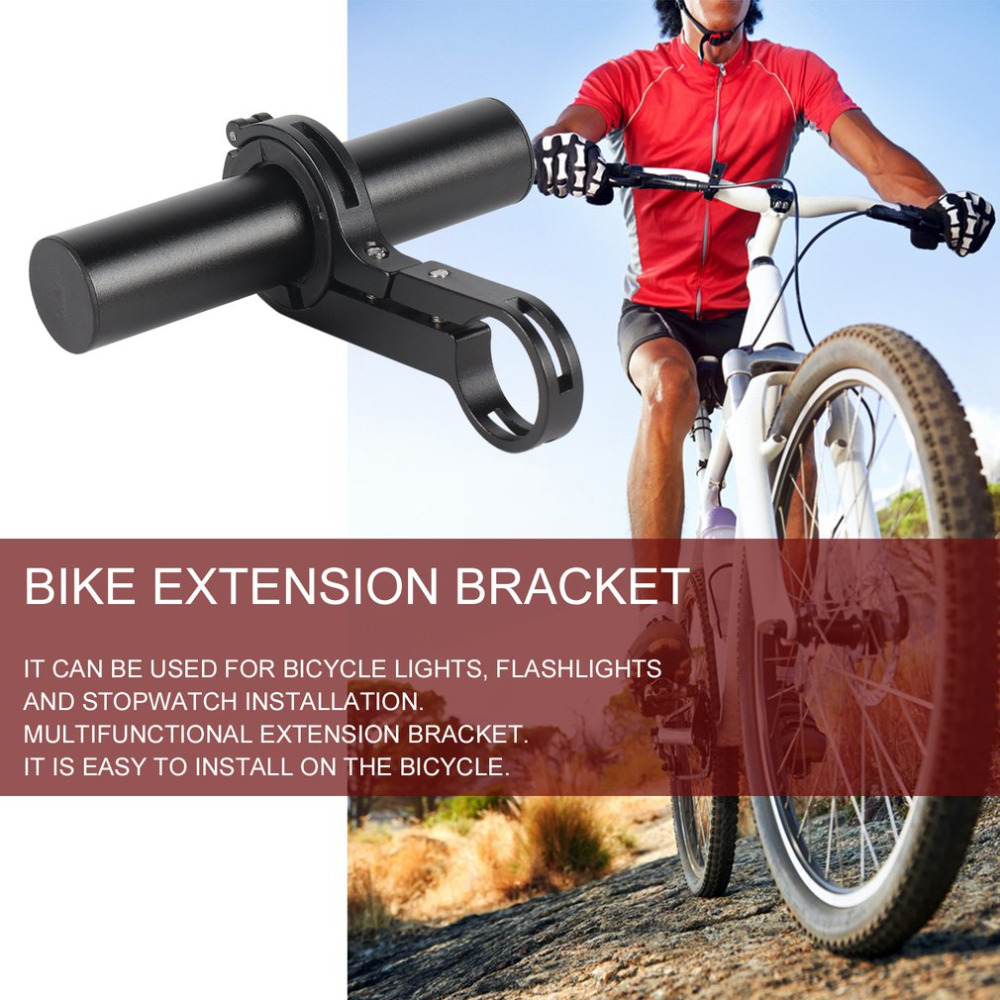 Aluminum Alloy Bicycle Mount Extender Holder Light Lamp Bike Stopwatch BracketVY Lenker