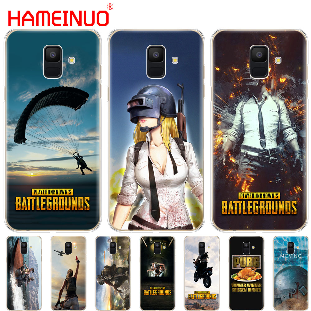 US $1 51 39% OFF|HAMEINUO Playerunknown's Battlegrounds PUBG cover phone  case for Samsung Galaxy J4 J6 J8 A9 A7 2018 A6 A8 2018 PLUS j7 duo-in