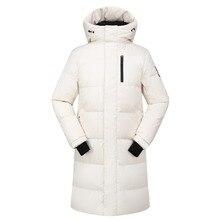 Высококачественная удлиненная куртка-пуховик для мужчин, брендовая IN-YESON, теплая Толстая ветрозащитная куртка на белом утином пуху, Мужская зимняя верхняя одежда, зимние пальто