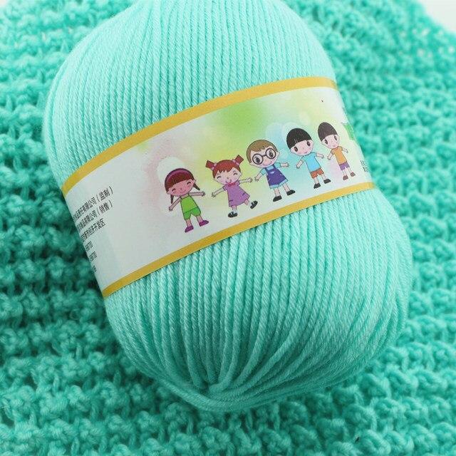 Tienda Online 1000 g/lote suave hilo multicolor DIY algodón grueso ...