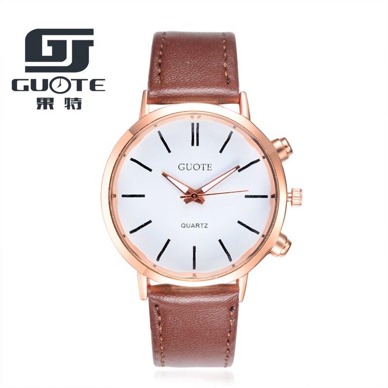 GUOTE 2020 Mens Watches Top Brand Luxury Male Clock Casual Unisex Watch Women Quartz-watch Leather Watch Men Relogio Masculino