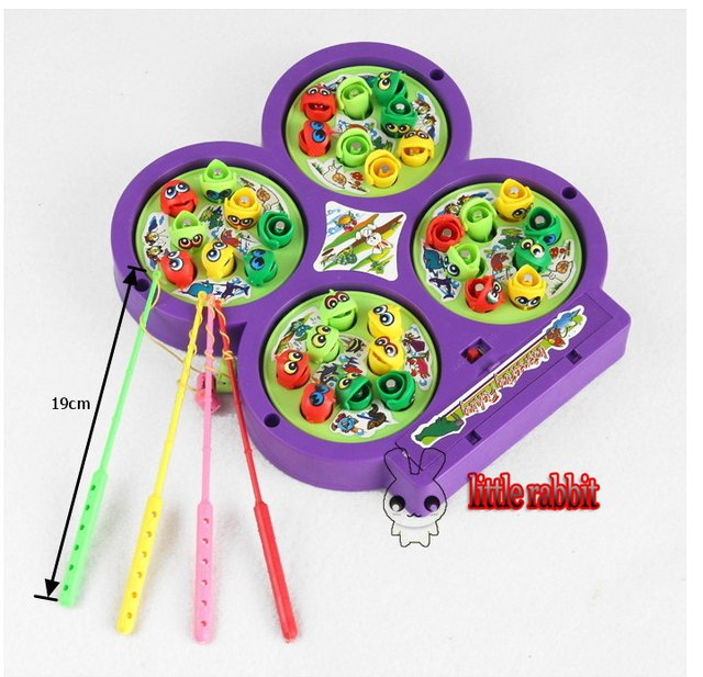 Colorful magnetic fishing rotating game child toy baby colorful magnetic fishing rotating game child toy baby educational children musical toys play set solutioingenieria Gallery