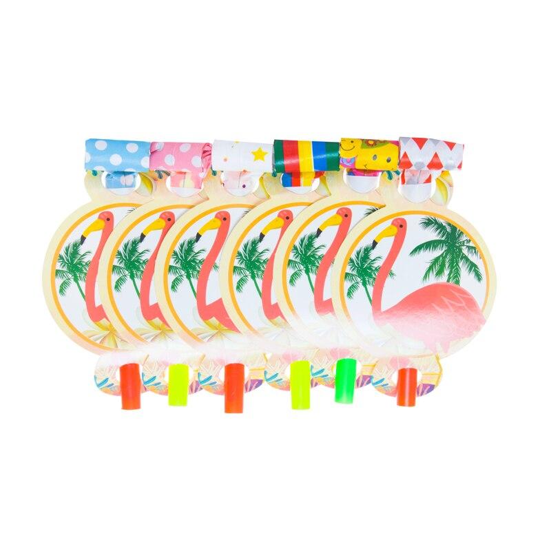 12pcs/lot Blowout Flamingo Kids Bi Kids Birthday Party