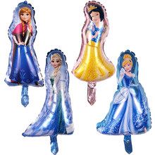 NEW 1pcs Cartoon Mini Anna&Cinderella&White Snow&Elsa Princess Foil Balloon Baby Shower Birthday Party Balloons Wedding Balloons(China)