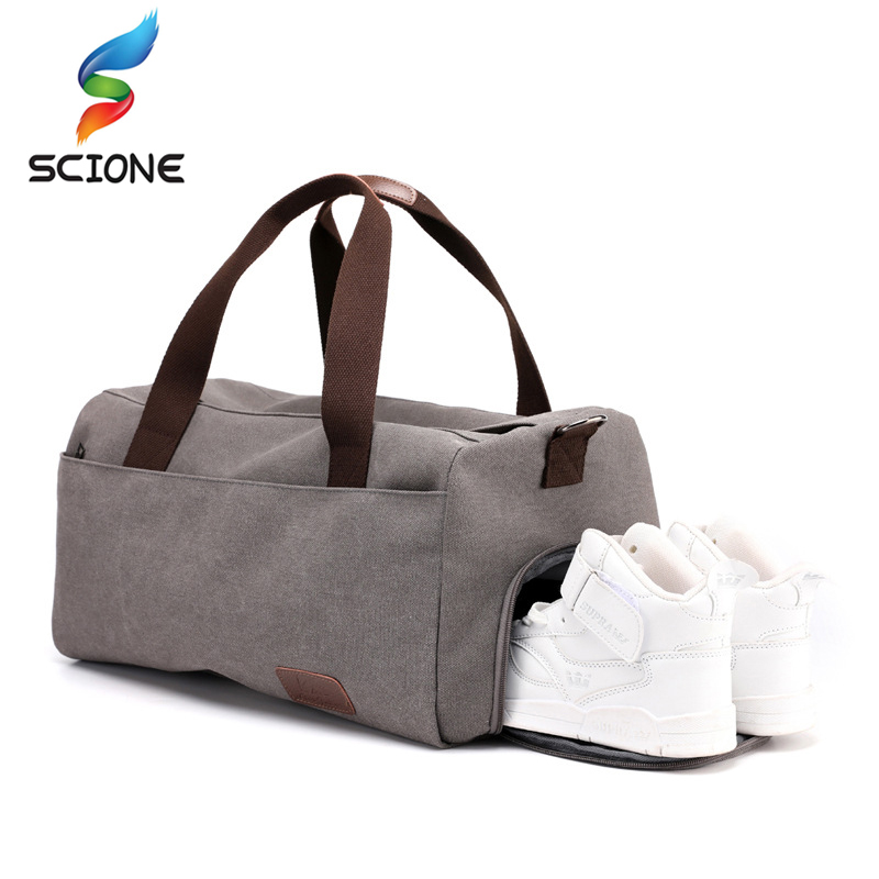 Stylish Outdoor Canvas Sports Gym Bags Men Women Training   Running Fitness Casual  Travel Handbag Yoga Mat Bag Sac Sport