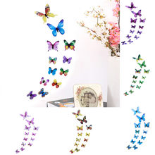 12pcs 3D DIY Butterfly Wall Sticker Wallpaper For Living Room Stickers Butterfly Home Decor Room Decorations Dropshipping(China)