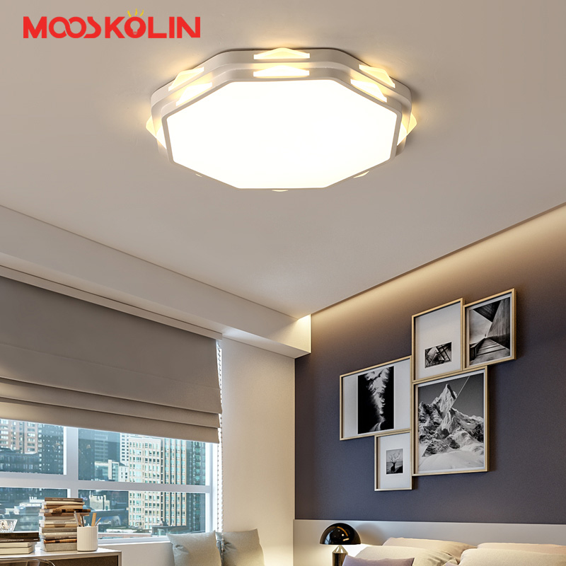 White Modern Led Ceiling Lights For Living Room Bedroom Kitchen AC85-265V Indoor lighting Ceiling Lamp Fixture luminaria teto led ceiling lights for hallways bedroom kitchen fixtures luminarias para teto black white black ceiling lamp modern