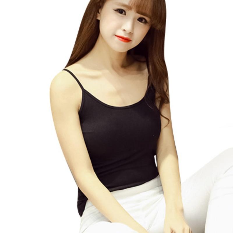 ROPALIA Camis cotton Basic Camisoles Comfortable   tank     tops   summer   top   Black White Pink Fittness   Tops   Roupas Femininas