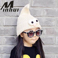 Minhui New Winter Children's Hats Knit Gorro Cute Eyes Beanies Touca Bonnets Caps for Girls Boys Skullies Winter Hat