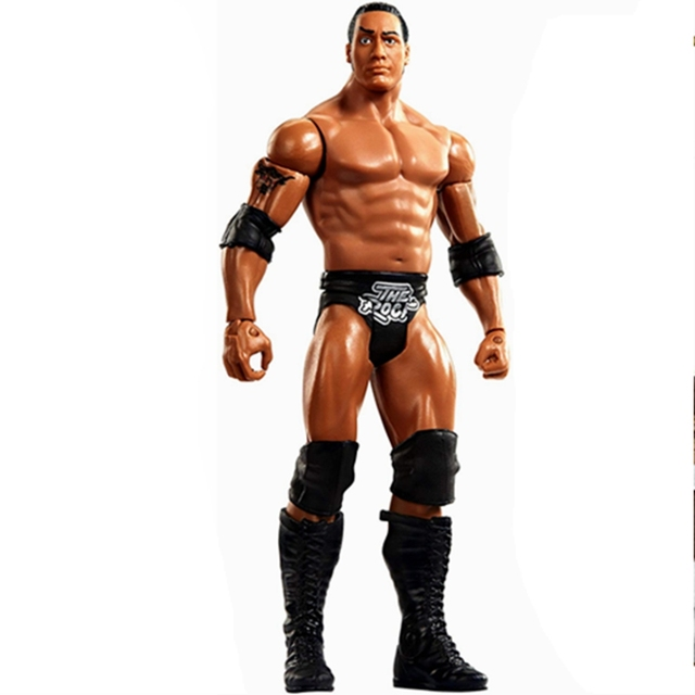 Wrestling Wrestler The Rock Action Figure Toy Doll Figurine Model Gift
