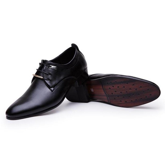 2019 Fashion Men's Formal Business Shoes High Quality Pointed Dress Shoes Big Size 37-48 Oxfords Leather Men Shoes