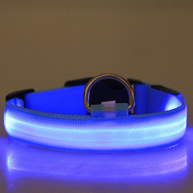 Fashion candy color LED Dog Collar Flashing In Dark Nylon 3 Mode Lighting Safety LED Pet Collar Wide Luminous Pet Products 15