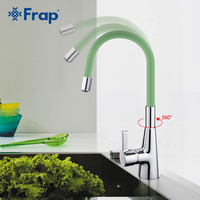 Frap New Arrival 7 Color Silica Gel Nose Any Direction Rotation Kitchen Faucet Cold And Hot