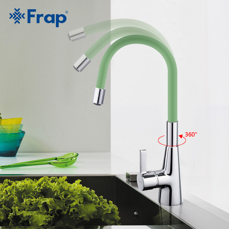 Frap New Arrival 7-color Silica Gel Nose Any Direction Rotation Kitchen Faucet Cold And Hot Water Mixer Torneira Cozinha F4153