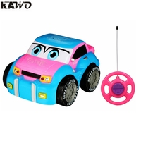 KAWO Cartoon Taxi RC Engineering Truck Race Car Radio Control Toy For Toddlers And Kids 3